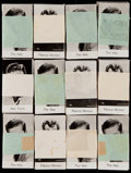 """Non-Sport Cards:Sets, 1940 Bridgewater """"Film Stars"""" 8th Series Complete Set Collection (12)...."""