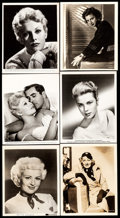 "Movie Posters:Miscellaneous, Betty Grable & Others Lot (Various, 1930s-1960s). PortraitPhotos (12) (Approx. 8"" X 10), Trimmed Photo (7.25"" X 9.25""), &M... (Total: 14 Items)"