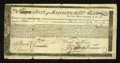 Colonial Notes:Massachusetts, Massachusetts Commodity Bond January 1, 1780 Very Good-Fine,repairs....