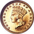 Proof Gold Dollars, 1884 G$1 PR62 Cameo NGC....