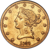 1839 $10 Type of 1840, Small Letters VF35 ANACS....(PCGS# 8580)