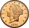 Liberty Double Eagles, 1889-CC $20 XF45 NGC. Variety 1-A....