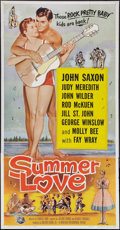 "Movie Posters:Rock and Roll, Summer Love (Universal International, 1958). Three Sheet (41"" X 79""). Rock and Roll.. ..."