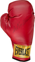 Boxing Collectibles:Autographs, 2005 Leroy Neiman Signed Boxing Glove. ...