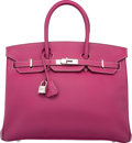 Luxury Accessories:Bags, Hermes Limited Edition Candy Collection 35cm Tosca & Rose Tyrien Epsom Leather Birkin Bag with Palladium Hardware. O Squar...