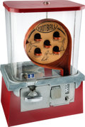 Football Collectibles:Others, 1957 Football Themed Gumball Machine....