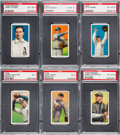 Baseball Cards:Lots, 1909-11 T206 Piedmont/Sweet Caporal PSA Graded Collection (6). ...