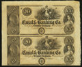 Obsoletes By State:Louisiana, New Orleans, LA- Canal & Banking Co. $20-$20 18__ Uncut Pair. ...