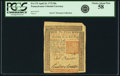 Colonial Notes:Pennsylvania, Pennsylvania April 10, 1775 50 Shillings Fr. PA-175. PCGS ChoiceAbout New 58.. ...