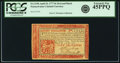Colonial Notes:Pennsylvania, Pennsylvania April 10, 1777 8 Shillings Red and Black Fr. PA-219b.PCGS Extremely Fine 45PPQ.. ...