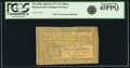 Colonial Notes:Pennsylvania, Pennsylvania April 10, 1777 12 Shillings Black Fr. PA-220a. PCGSExtremely Fine 45PPQ.. ...
