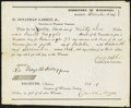 Obsoletes By State:Wisconsin, Madison, WI- Treasurer of Wisconsin Warrant $96 Dec. 16, 1846. ...