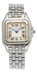 Estate Jewelry:Watches, Cartier Lady's Stainless Steel Panthere Watch. ...