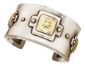 Estate Jewelry:Bracelets, Gold, Sterling Silver Bracelet, Laurence De Vries. ...
