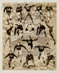 Football Collectibles:Photos, 1947 Notre Dame Fighting Irish Team Signed National Championship Season Photograph....