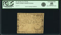 Colonial Notes:South Carolina, South Carolina October 19, 1776 $6 Fr. SC-132. PCGS Extremely Fine40 Apparent.. ...