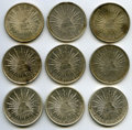 Mexico, Mexico: Republic Lot of Nine silver Pesos,... (Total: 9 coins)