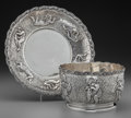 Silver Holloware, American:Child's Cups, A Tiffany & Co. Silver Child's Bowl and Underplate with PuttiMotif, New York, New York, circa 1873-1891. Marks: TIFFANY&... (Total: 2 Items)