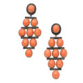 Estate Jewelry:Earrings, Coral, Colored Diamond, White Gold Earrings, Eli Frei. . ...(Total: 2 Items)