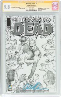 Walking Dead #1 Wizard World San Jose Sketch Edition - Signature Series (Image, 2015) CGC NM/MT 9.8 White pages