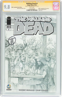 Walking Dead #1 Wizard World Ft. Lauderdale Sketch Edition - Signature Series (Image, 2015) CGC NM/MT 9.8 White pages...