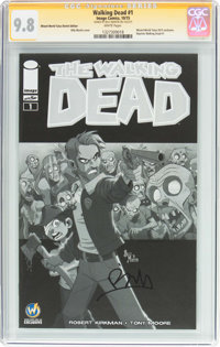 Walking Dead #1 Wizard World Tulsa Sketch Edition - Signature Series (Image, 2015) CGC NM/MT 9.8 White pages