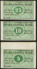 Obsoletes By State:New Hampshire, Concord, NH- Unknown Issuer at State Capital Bank 5¢; 10¢; 25¢ Nov. 1, 1862 Remainders. ... (Total: 4 notes)