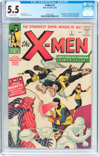 X-Men #1 (Marvel, 1963) CGC FN- 5.5 Off-white pages