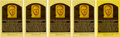 Baseball Collectibles:Others, Circa 1980 Hank Greenberg Signed Gold Hall of Fame Plaque PostcardsLot of 5. ...
