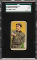 Baseball Cards:Singles (Pre-1930), 1909-11 T206 Drum Barney Pelty (Vertical) SGC 10 Poor 1 - The Only SGC or PSA Graded Example! ...