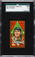 Baseball Cards:Singles (Pre-1930), 1911 T205 Piedmont Cy Young SGC 60 EX 5....