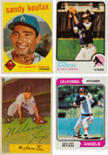 Autographs:Sports Cards, Signed 1950's - 70's Baseball HoFers Topps/Bowman Cards (4). ...
