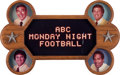 Football Collectibles:Others, 1983 Monday Night Football Display that Hung on Set....