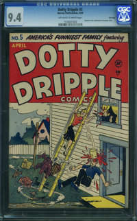Dotty Dripple #5 - File Copy (Harvey, 1949) CGC NM 9.4 OFF-WHITE TO WHITE pages