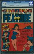 Golden Age (1938-1955):Superhero, Feature Comics #31 (Quality, 1940) CGC FN/VF 7.0 OFF-WHITE pages.