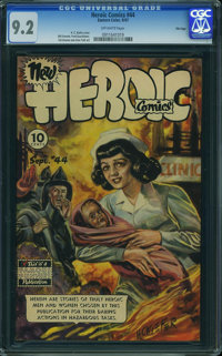 Heroic Comics #44 - File Copy (Eastern Color, 1947) CGC NM- 9.2 OFF-WHITE pages