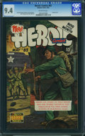 Golden Age (1938-1955):War, Heroic Comics #83 (Eastern Color, 1953) CGC NM 9.4 OFF-WHITE pages.