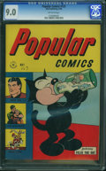 Golden Age (1938-1955):Miscellaneous, Popular Comics #123 (Dell, 1946) CGC VF/NM 9.0 OFF-WHITE pages.
