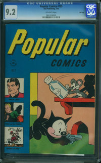 Popular Comics #125 - File Copy (Dell, 1946) CGC NM- 9.2 OFF-WHITE pages