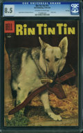 Golden Age (1938-1955):Adventure, Rin Tin Tin #11 - File Copy (Dell, 1955) CGC VF+ 8.5 OFF-WHITE TO WHITE pages.