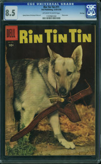 Rin Tin Tin #11 - File Copy (Dell, 1955) CGC VF+ 8.5 OFF-WHITE TO WHITE pages