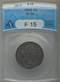 Large Cents, 1800/1798 1C Style One Hair, S-190, B-5, R.3, Fine 15 ANACS. NGC Census: (1/7). PCGS Population (0/5). . From The Ohio...