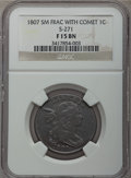 Large Cents, 1807 1C Comet, S-271, B-1, R.1, Fine 15 NGC. NGC Census: (3/16). PCGS Population (0/6).. From The Ohio Valley Collectio...