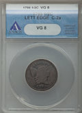 Half Cents, 1795 1/2 C Lettered Edge, Punctuated Date, C-2a, B-2a, R.3, VG8 ANACS. PCGS Population (1/4). . Fro...