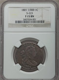 1801 1C 1/000, S-223, B-17, R.1, Fine 15 NGC. NGC Census: (3/5). PCGS Population (2/9). From The Ohio Valley Collect...(...