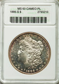 Morgan Dollars, 1886-S $1 MS63 Cameo Prooflike ANACS. NGC Census: (93/85). PCGS Population (98/86).. From The Ohio Valley Collection....