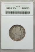 1896-S 25C Good 6 ANACS. NGC Census: (84/130). PCGS Population (262/315). Mintage: 188,039. From The Ohio Valley Coll...