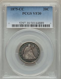 1875-CC 20C VF30 PCGS. PCGS Population (92/914). NGC Census: (47/556). Mintage: 133,290. From The Ohio Valley Collect