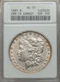 1887 $1 Donkey Tail, VAM-25A, AU55 ANACS. (VAM-1A). TOP-100. NGC Census: (11/15). PCGS Population (18/26). From The O...