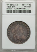 Early Half Dollars, 1805 50C -- Lamination -- ANACS. VF Details. Net Fine 12. O-107.NGC Census: (14/235). PCGS Population (42/468). Mintage: 2...